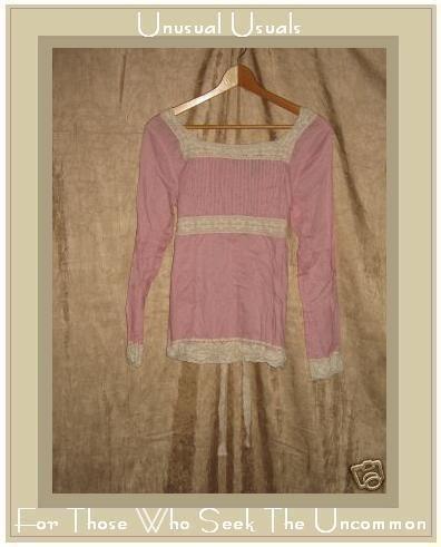 New York Company Pink Lace Trim Tunic Top Shirt Medium M