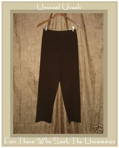 EILEEN FISHER Loose Brown Wool Pants X-Small XS