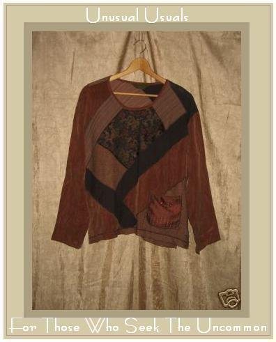 A. Spence by SPENCER ALEXIS Earth Tone Tunic Top Large L