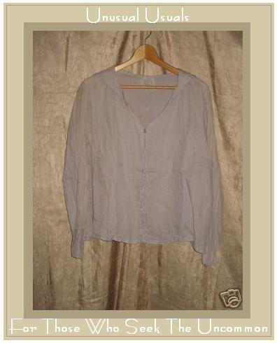 CLEA Boutique Ethereal Ramie Art to Wear Jacket Shirt Top SMALL S