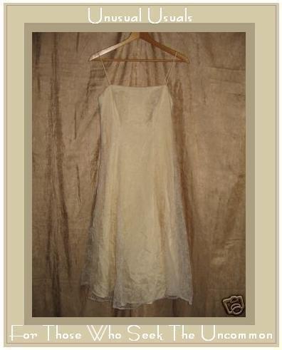 ZUM ZUM Floaty Wispy Floral Tulle White on Cream Dress by Niki Livas Small 5 / 6