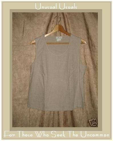 edie. 7 Linen & Rayon Pullover Shirt Tank Top Large L