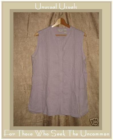 J. Jill Asain Knot Lavender Linen Tunic Top Shirt Large L