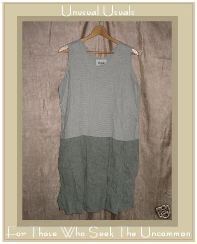 FLAX by ANGELHEART Jeanne Engelhart Tunic Dress Dress LARGE L
