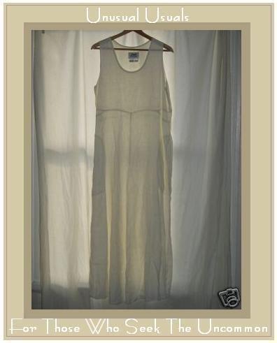 FLAX by Jeanne Engehart White Linen Dress Flax Medium M