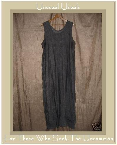 FLAX by Jeanne Engehart Reversible Linen Dress LARGE L