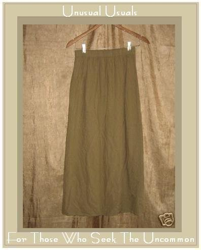 EILEEN FISHER Long Taupe Silk Wrap Skirt Size 1 Small S