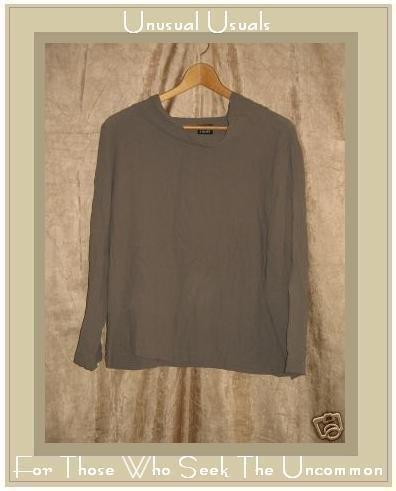 Eileen Fisher Draping Gray Silk Pullover Tunic Top Shirt Medium M