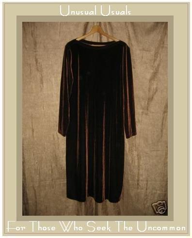 J. Jill Elegant Brown Velour Pullover Dress X-Large Tall XLT