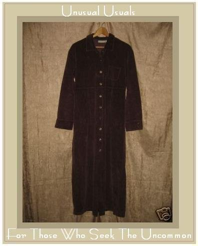 J. Jill Long Brown Cotton Corduroy Dress Medium M