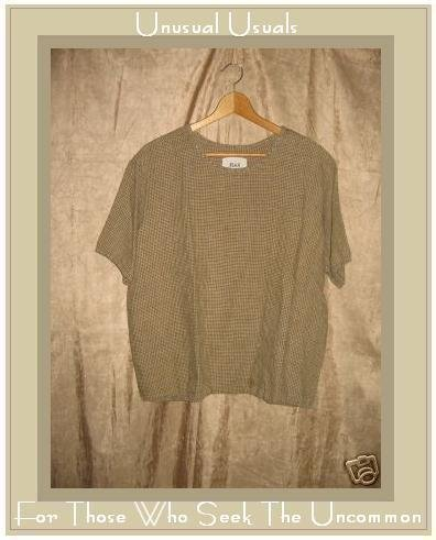 FLAX Jeanne Engelhart Linen Pullover Shirt Tunic Top Medium M