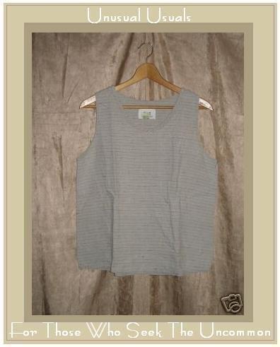 FLAX Jeanne Engelhart Linen Pullover Shirt Tank Top Medium M