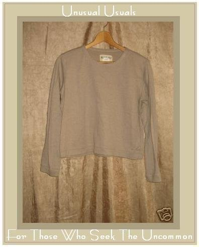FLAXseeds by Angelheart Jeanne Engelhart Cotton Knit Tunic Top Shirt Large L