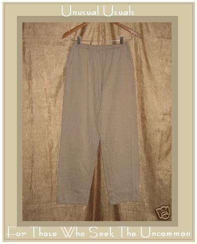 FLAXseeds by Angelheart Cotton Pants Jeanne Engelhart Large L