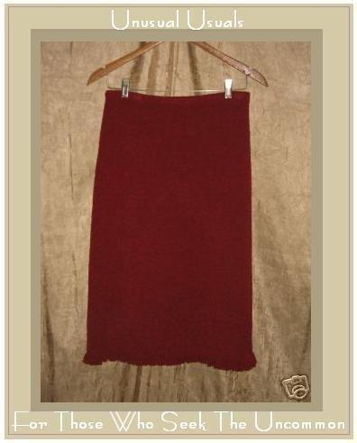 J. Jill Soft Red Merino Wool Ruffle Skirt Small S