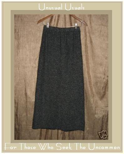 PERUVIAN TRADING COMPANY Long Gray Nubby Knit Skirt Medium M