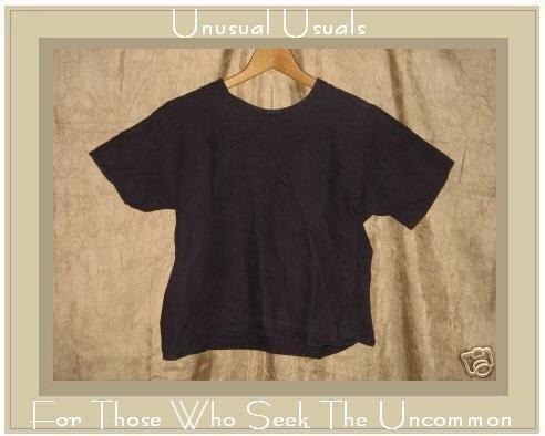 FLAXseeds by Angelheart Jeanne Engelhart Purple LINEN Tunic Top Shirt Medium M