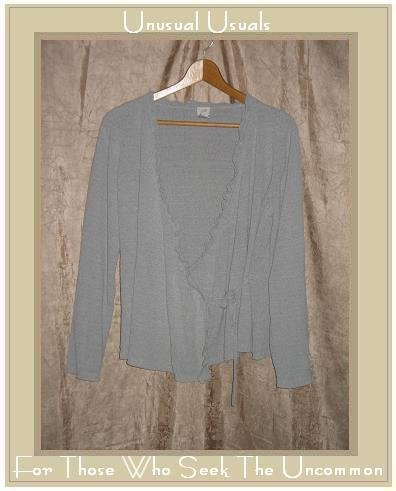 J. JILL Silk Wrapped Pullover Cardigan Sweater Medium M
