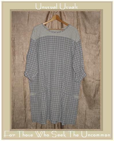 ANGELHEART DESIGNS by Jeanne Engelhart Skirted Tunic Top Shirt FLAX Small S