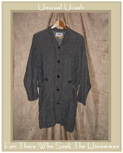 Jeanne Engelhart FLAX linen button Jacket Coat Small S