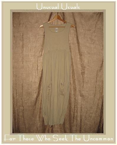 GARB Boutique Long Beige Tencel Rayon Dress Small Medium S M