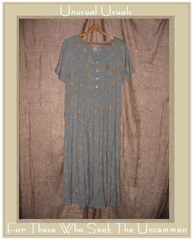 April Cornell Long Floral Seamed Waist Dress Medium M