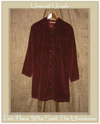 J. Jill Short Brick Red Cotton Corduroy Dress Size 8 S M