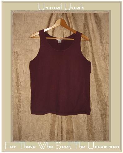 FLAX Soft Dark Berry Cotton Tank Top Jeanne Engelhart Small S