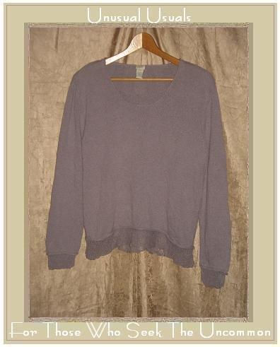 J. Jill Light Weight Lavender Silk Tunic Top Sweater Medium M
