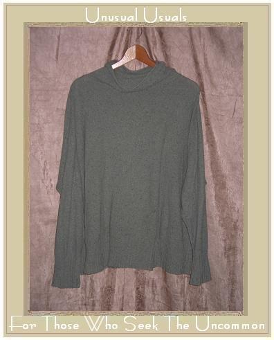J. Jill Soft Sage Green Light Weight Turtleneck Tunic Sweater Medium M