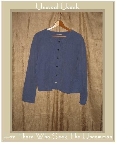 CUT LOOSE Textured Blue Boxy Button Jacket Shirt Top Medium M