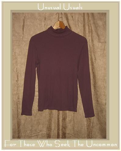 J. Jill Mauve Knit Turtleneck Tunic Top Shirt Small S