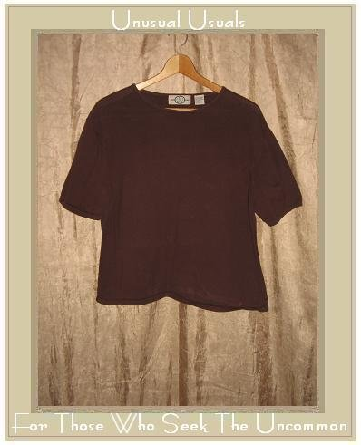 J. Jill LTD. Soft Brown Cotton Knit Pullover shirt top X-Large XL