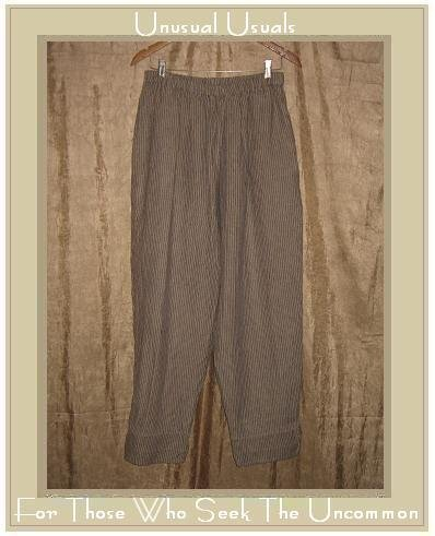 FLAX by Jeanne Engelhart Striped LINEN Pants Large L