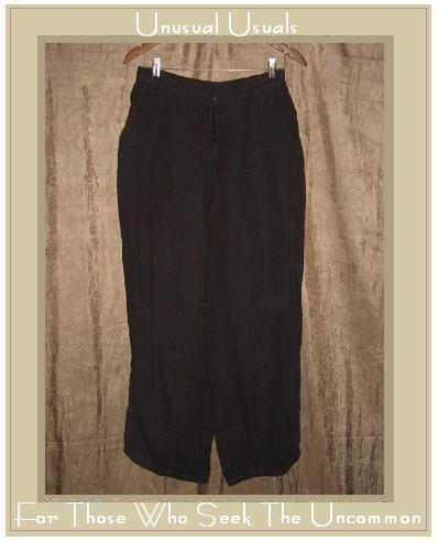 FLAX by Jeanne Engelhart Bark Cloth Linen Pants Medium M