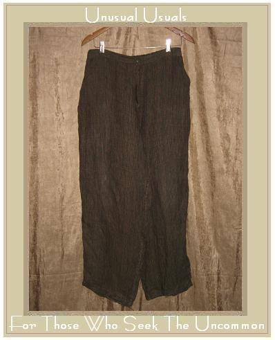 FLAX by Jeanne Engelhart Bark Cloth Linen Pants Medium M