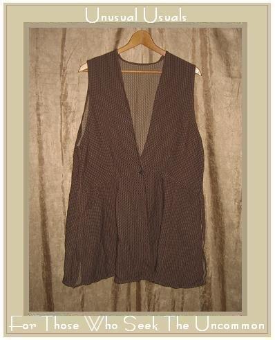 ANGELHEART DESIGNS By Jeanne Engelhart FLAX Reversible Tunic Top Vest Medium M