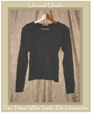 CLOTHESPIN Boutique Textured Gray Wool Knit Pullover shirt top X-Small XS