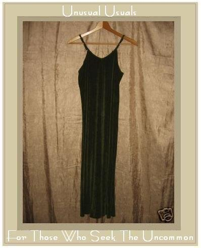 FLAX by Jeanne Engelhart Slinky Green Knit Tank Dress Petite P