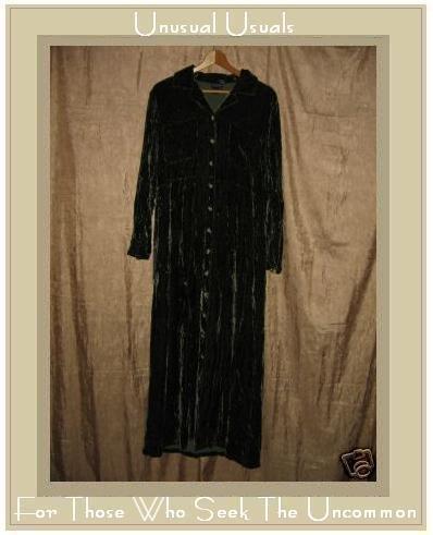 Boston Proper Soft Green Velvet Shapely Button Dress Medium M