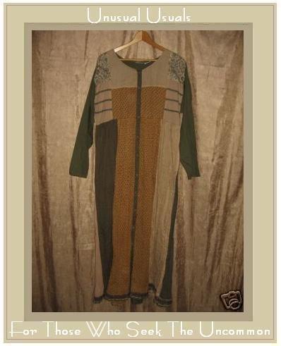 KIKO Comfortable Clothing Long Cotton Patchwork Dress Small S