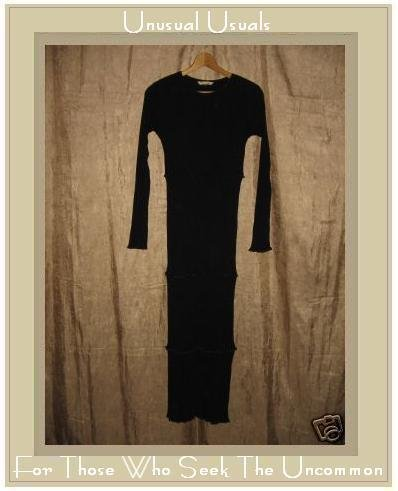 New CLOTHSPIN Long Black Knit Pullover Tunic Dress Small S
