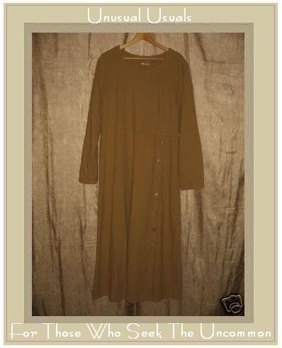 COTTON COTTON Long Earthy Woven Pullover Tunic Dress X-Large XL