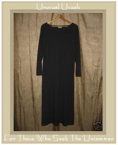 COTTON STUDIO Long Gray Slinky Knit Pullover Tunic Dress Medium M