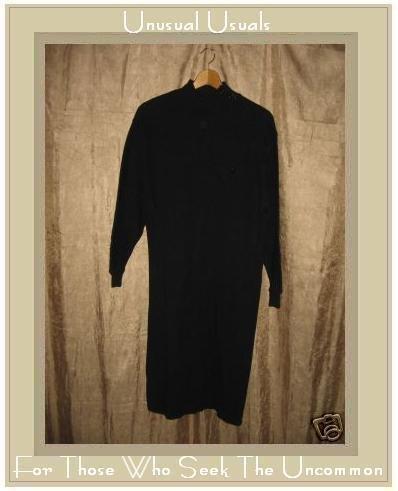 BOWMAN TRADING Long Black Knit Pullover Turtleneck Dress Size 2 Medium M