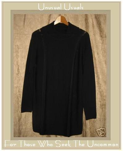 GLIV of Italy Long Black Knit Tunic Top Shirt Medium M