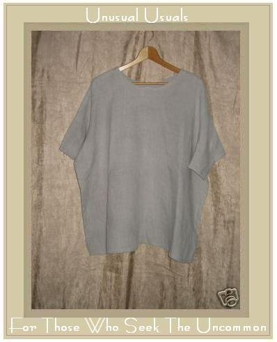 FLAX Jeanne Engelhart Linen Pullover Shirt Tunic Top Large L