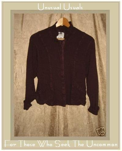 FLAX by Jeanne Engelhart Cropped Shapely Slickster Jacket Petite P