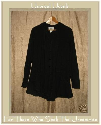 FLAX by Jeanne Engelhart Long Metamorphic Magick Jacket Top Small S