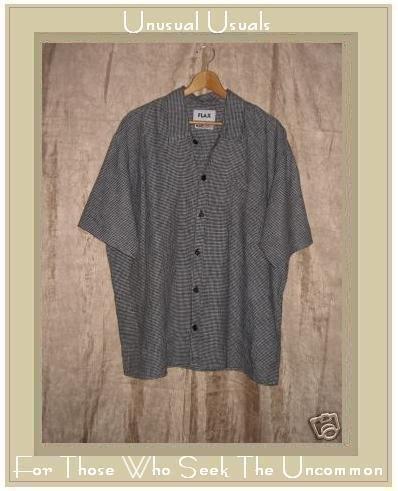 FLAX by Jeanne Engelhart LINEN Button Shirt Top Medium M